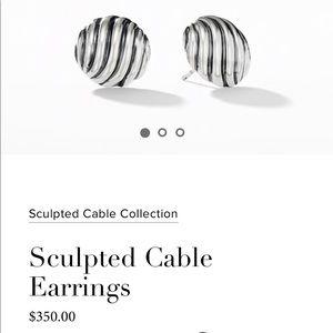 David Yurman sculpted cable earnings 14mm (NEW!)